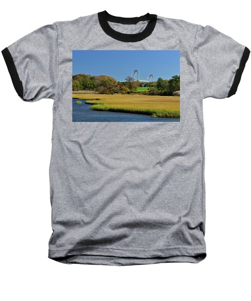 Jamestown Marsh With Pell Bridge Baseball T-Shirt