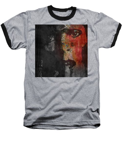 Baseball T-Shirt featuring the painting Jamming Good With Wierd And Gilly by Paul Lovering