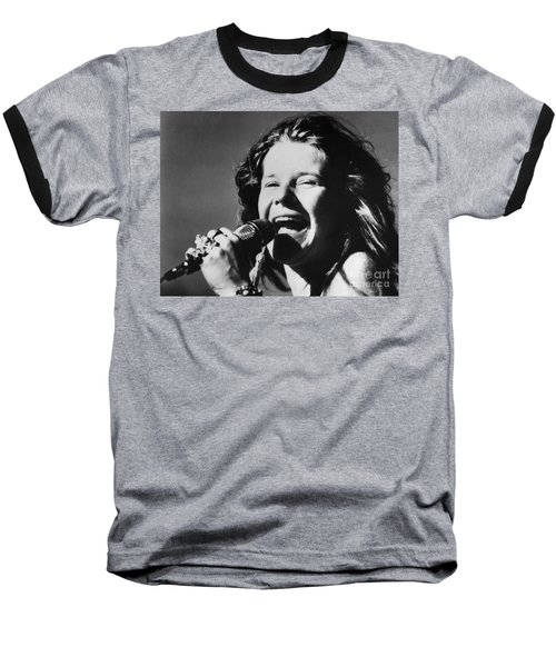 Janis Joplin (1943-1970) Baseball T-Shirt
