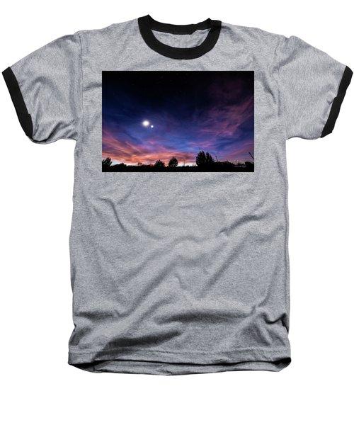 January 31, 2016 Sunset Baseball T-Shirt by Karen Slagle