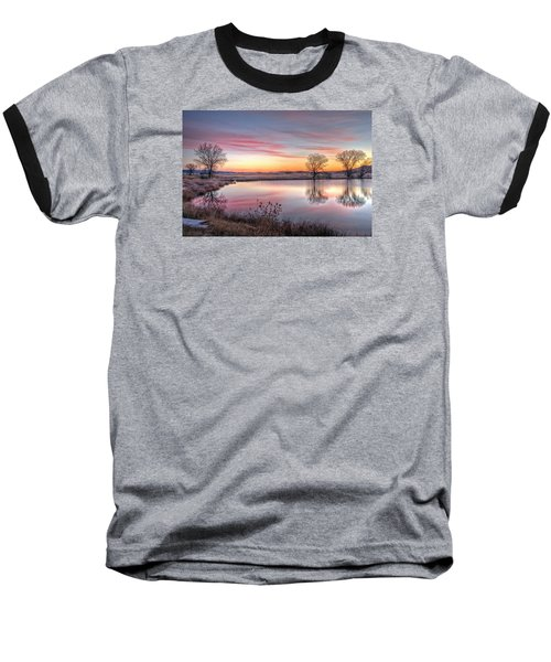January Dawn Baseball T-Shirt by Fiskr Larsen