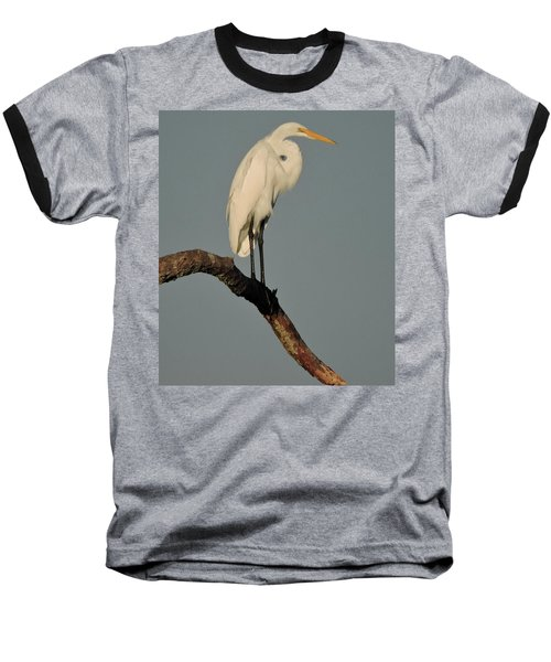 Baseball T-Shirt featuring the photograph January Egret by Peg Toliver