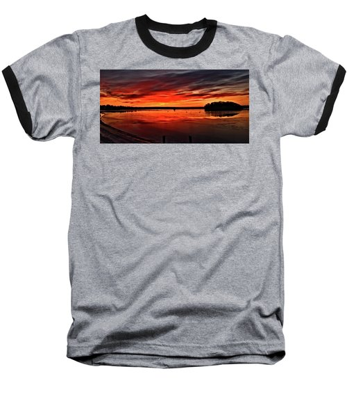 January Sunrise Onset Pier Baseball T-Shirt