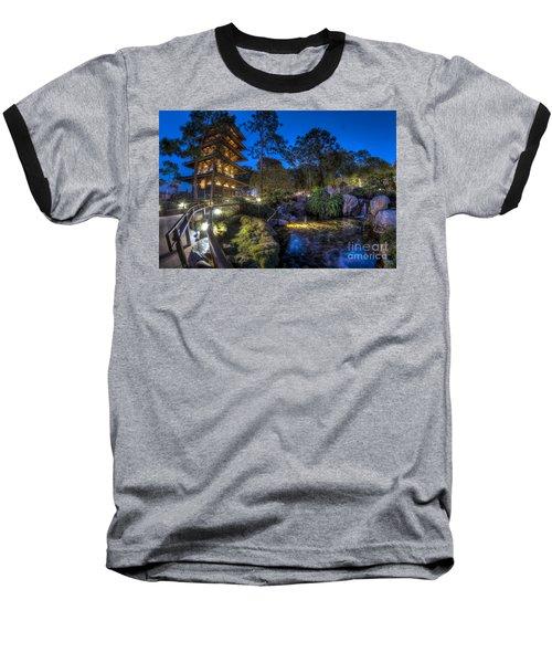 Japan Epcot Pavilion By Night. Baseball T-Shirt