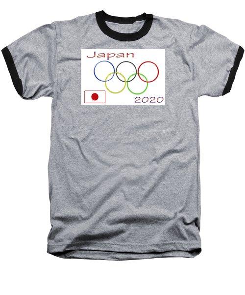 Japan Olympics 2020 Logo 3 Of 3 Baseball T-Shirt by Tina M Wenger