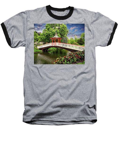 Japanese Bridge Garden Baseball T-Shirt