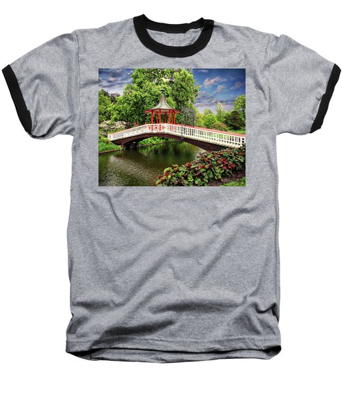 Japanese Bridge Garden Baseball T-Shirt