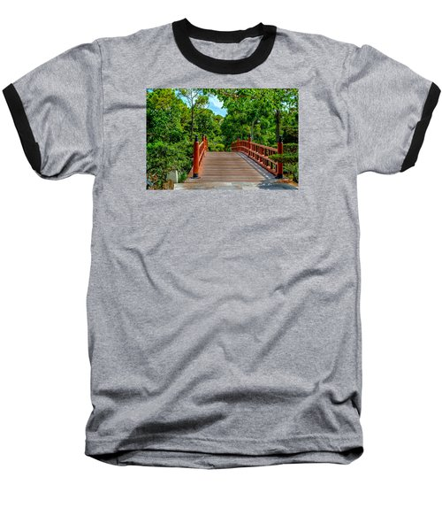 Japanese Bridge  Baseball T-Shirt by Louis Ferreira