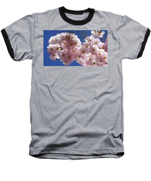 Japanese Flowering Cherry Prunus Serrulata Baseball T-Shirt