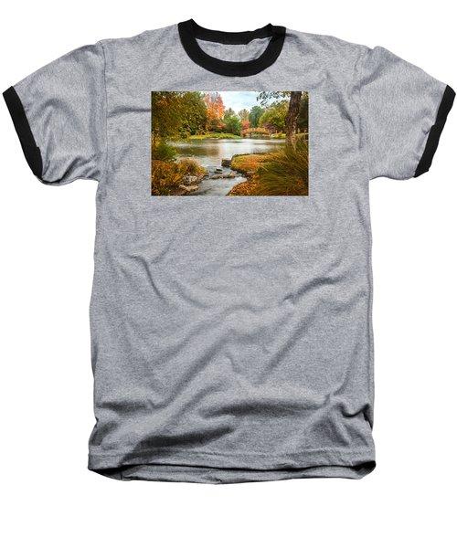 Japanese Garden Bridge Fall Baseball T-Shirt