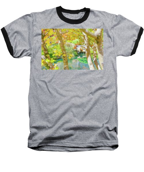 Japanese Garden Pond Baseball T-Shirt