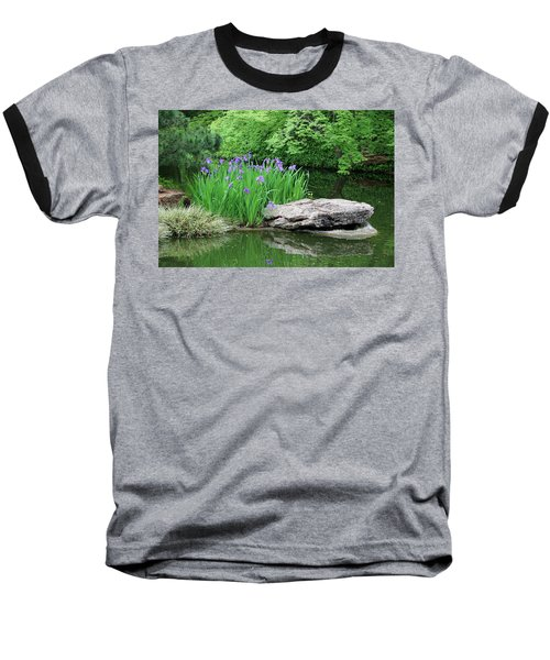 Japanese Gardens - Spring 02 Baseball T-Shirt by Pamela Critchlow