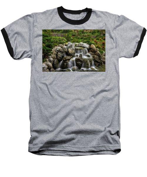 Japanese Garden Waterfalls Baseball T-Shirt