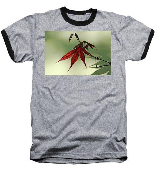 Japanese Maple Leaf Baseball T-Shirt