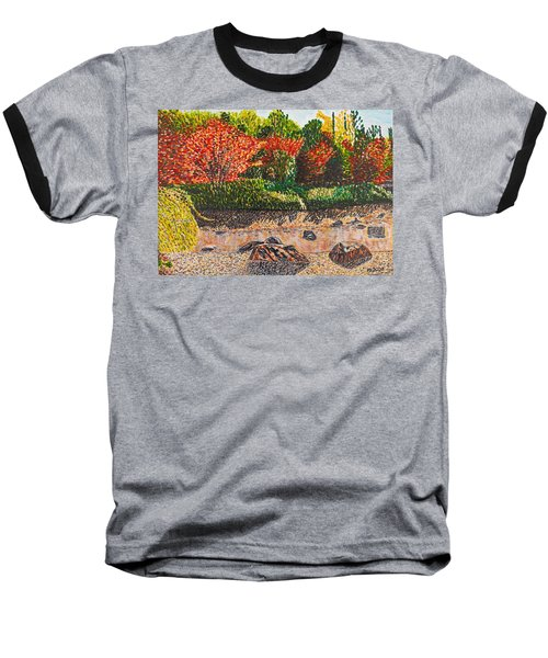 Japanese Maple Trees At The Creek Baseball T-Shirt by Valerie Ornstein