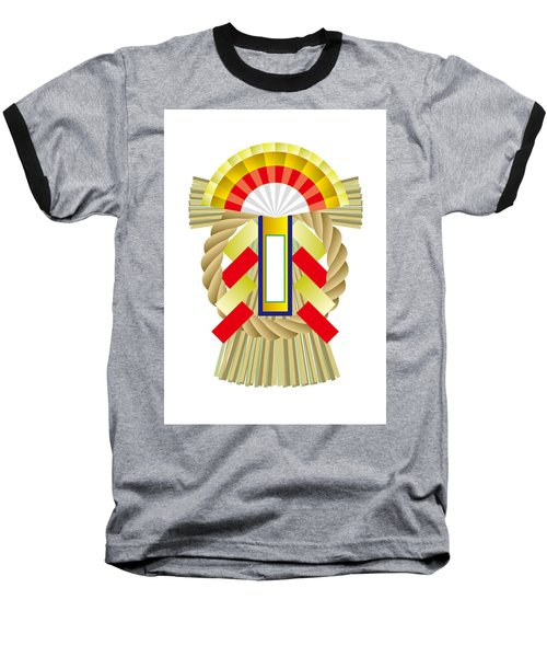 Japanese Newyear Decoration Baseball T-Shirt