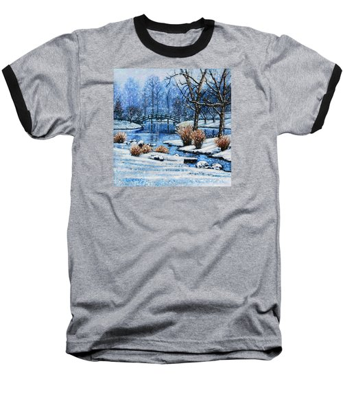 Japanese Winter Baseball T-Shirt by John Lautermilch