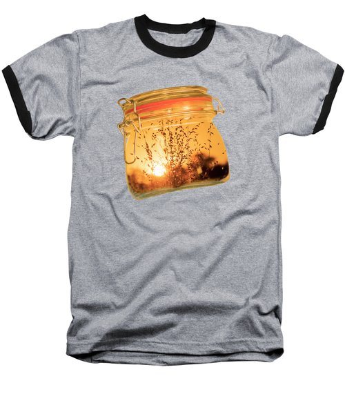Baseball T-Shirt featuring the photograph Jar Full Of Sunshine by Linda Lees