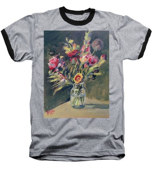 Jar Vase With Flowers Baseball T-Shirt
