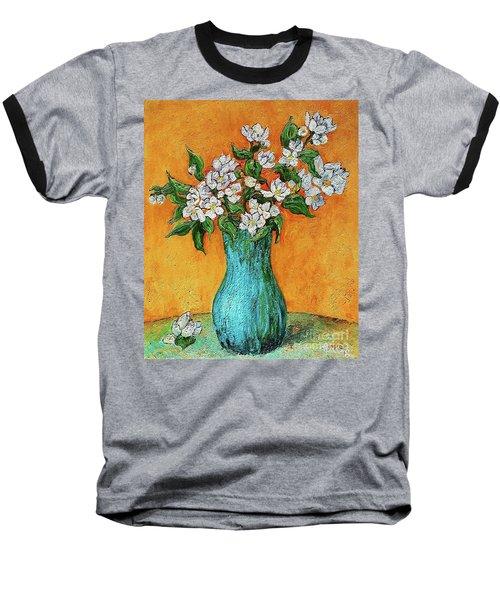 Jasmine Flowers In A Blue Pot Baseball T-Shirt