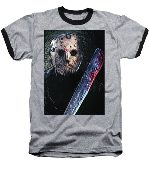 Jason Voorhees Baseball T-Shirt by Taylan Apukovska