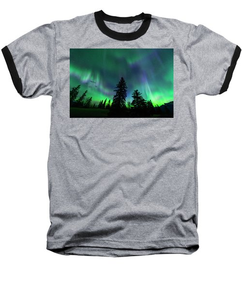 Jasper National Park Aurora Baseball T-Shirt