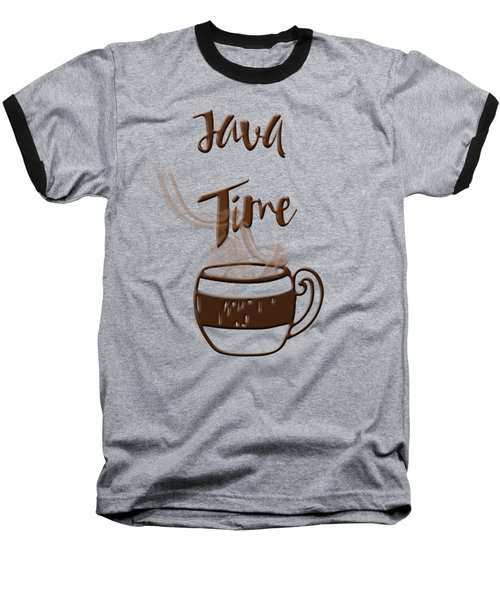 Baseball T-Shirt featuring the photograph Java Time - Steaming Coffee Cup by Joann Vitali