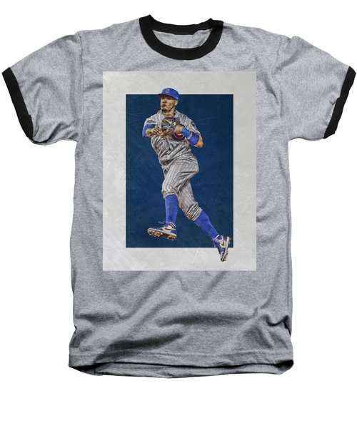 Javier Baez Chicago Cubs Art Baseball T-Shirt