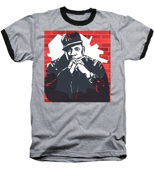 Jay Z Graffiti Tribute Baseball T-Shirt by Dan Sproul