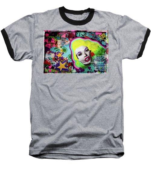 Baseball T-Shirt featuring the photograph Jayne Mansfield - Pop Art by Colleen Kammerer