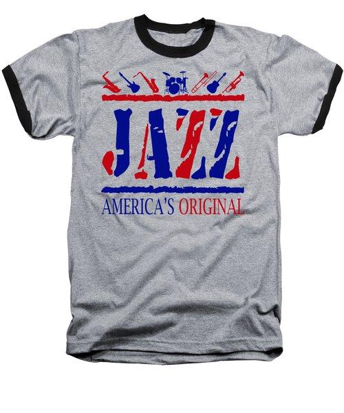 Jazz Americas Original Baseball T-Shirt by David G Paul