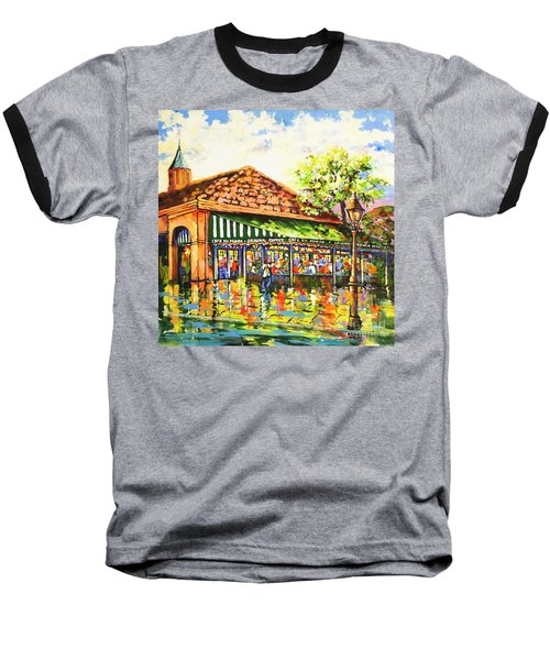 Jazz At Cafe Du Monde Baseball T-Shirt