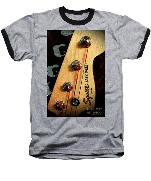 Jazz Bass Headstock Baseball T-Shirt