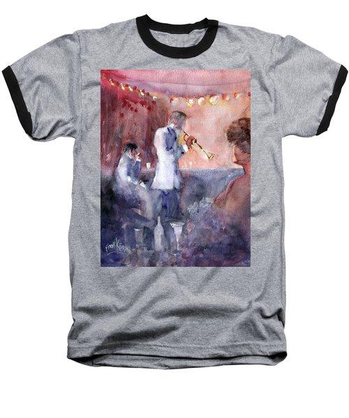 Jazz Nights Baseball T-Shirt by Faruk Koksal