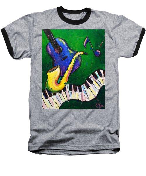 Jazz Time Baseball T-Shirt