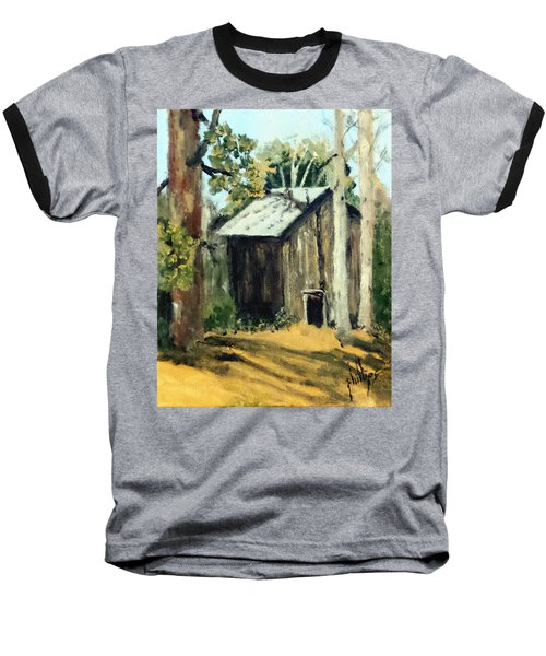 Baseball T-Shirt featuring the painting Jd's Backker Barn by Jim Phillips