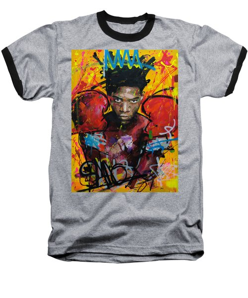 Jean-michel Basquiat Baseball T-Shirt by Richard Day
