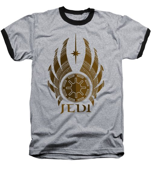 Jedi Symbol - Star Wars Art, Brown Baseball T-Shirt
