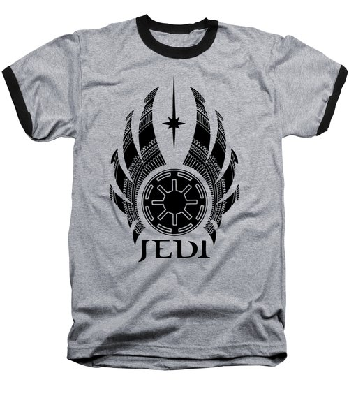 Jedi Symbol - Star Wars Art, Teal Baseball T-Shirt