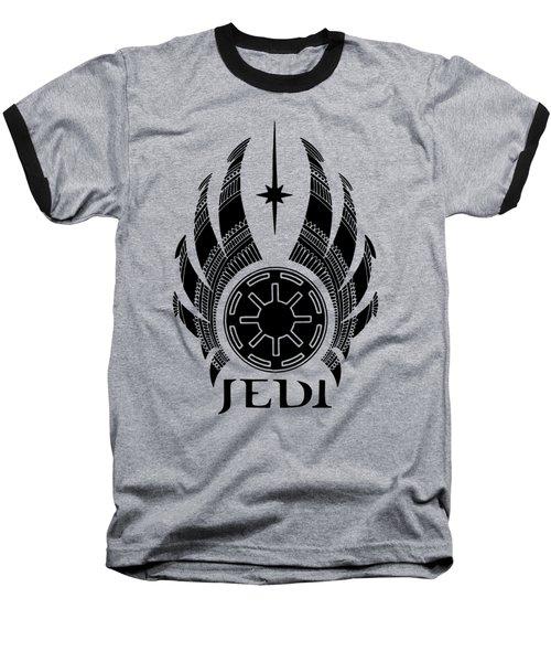 Jedi Symbol - Star Wars Art, Teal Baseball T-Shirt