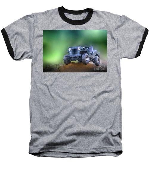 Baseball T-Shirt featuring the photograph Jeep by Charuhas Images