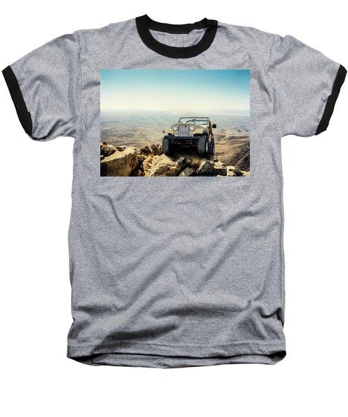 Jeep On A Mountain Baseball T-Shirt