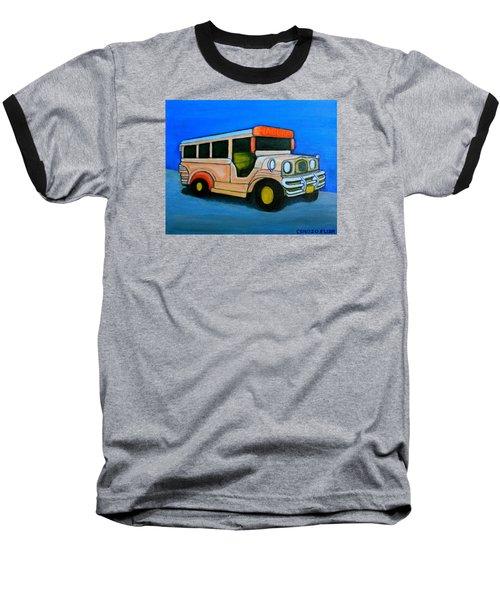 Jeepney Baseball T-Shirt by Cyril Maza