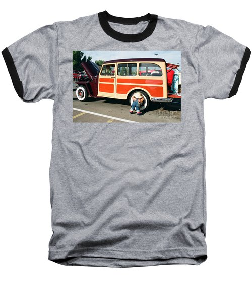 Baseball T-Shirt featuring the photograph Jeepster by Vinnie Oakes