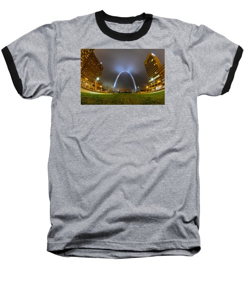 Jefferson Expansion Memorial Gateway Arch Baseball T-Shirt