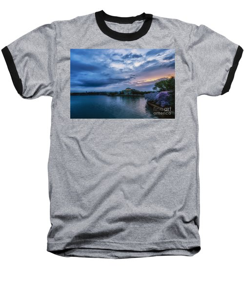 Jefferson Memorial Dawn Baseball T-Shirt by Thomas R Fletcher