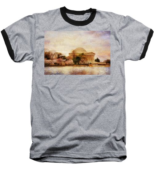 Jefferson Memorial Just Past Dawn Baseball T-Shirt