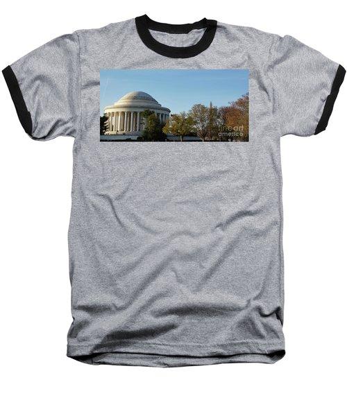 Jefferson Memorial Baseball T-Shirt by Megan Cohen