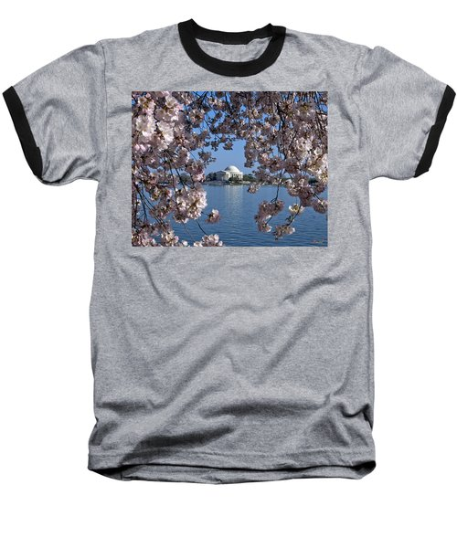 Baseball T-Shirt featuring the photograph Jefferson Memorial On The Tidal Basin Ds051 by Gerry Gantt