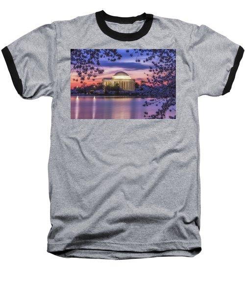 Jefferson Memorial Pre-dawn Baseball T-Shirt